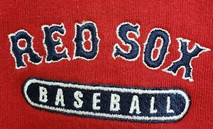 Boston-Red-Sox-Mens-XL-Embroidered-Red-Hoodie-Hooded-Sweatshirt-Jacket-MLB-Sport
