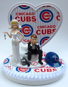 Image Is Loading Wedding Cake Topper Chicago Cubs Themed Baseball Ball