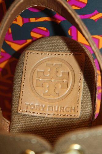 e8ab42fb1f2 NEW! NIB! TORY BURCH Olive Green LINLEY Espadrille Wedge Sandal 8 9 ...