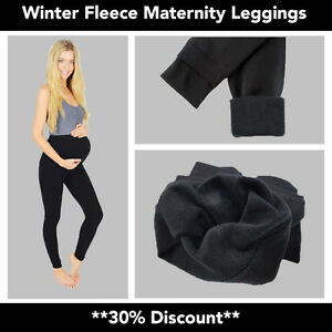 00c70392f4688a Image is loading WOMENS-LADIES-MATERNITY-WINTER-FLEECE-THERMAL-WARM-THICK-
