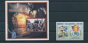 LO08539 Cook Islands olympics football cup sports fine lot MNH