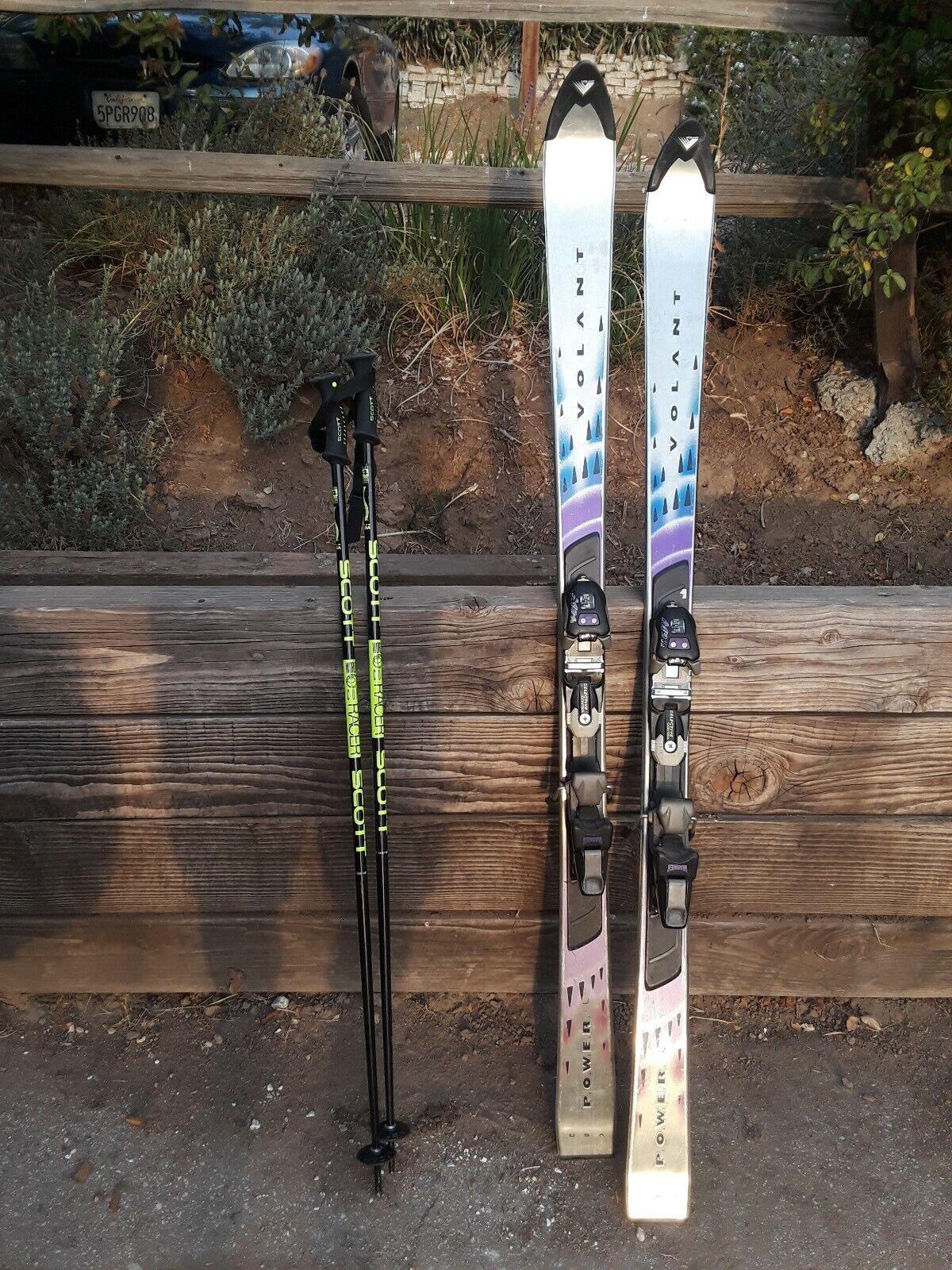 Wolant Power Skis met Marker Bindings en Scott Poles