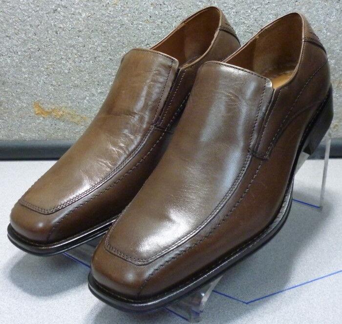 206240 WT50 Men's shoes 9 M Brown leather Slip On Johnston  Murphy Walk Test