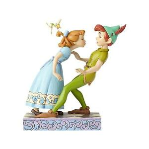 Disney-Traditions-Estatuilla-de-un-Unexpected-Kiss-Peter-Pan-amp-Wendy-Nuevo