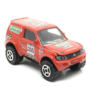 Majorette-Mitsubishi-Pajero-Metabo-205-Red-1-58-292A-New-no-Package