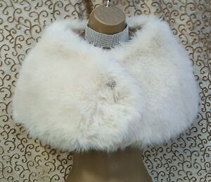 Faux Millen 1 Karen Detail Dress Stola Over Ivory Brioche Uk Fur 8 6 Size Shrug 1qEwrEPdn