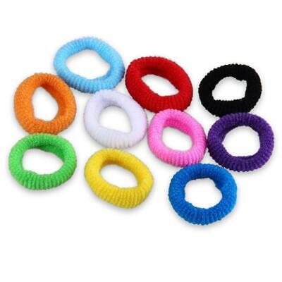 100x Frauen elastische Haargummis Band Seile Ring Pferdeschwanz Inhaber
