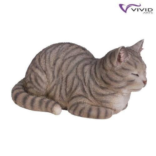 Résistant aux intempéries Intérieur//Extérieur détaillés Dreaming Tabby Cat Ornement Vivid Arts