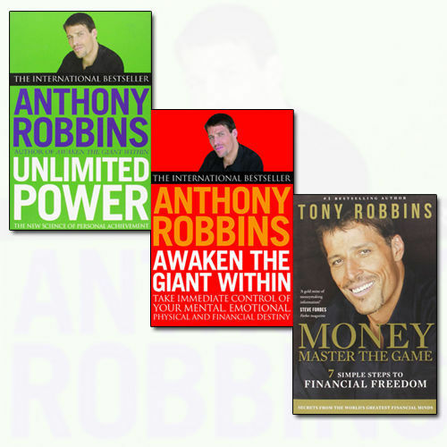 Tony Robbins Collection 3 Books Set Awaken The Giant Within, Unlimited Power NEW