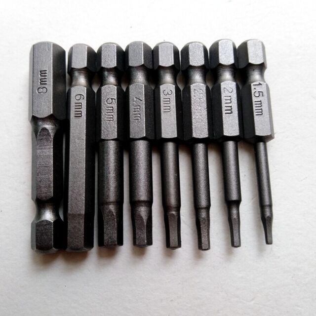 8pcs Hex Key Allen Bit Set Quick Change Connect impact driver drill metric B250