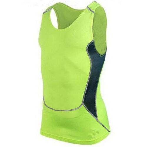 Mens Compression Under Shirt Base Layer Tight Tops Gym Sports T-Shirt Athleisure