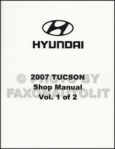2007 hyundai tucson shop manual volume 1 engine emissions fuel rh ebay ie 2006 hyundai tucson service repair manual download hyundai tucson repair manual