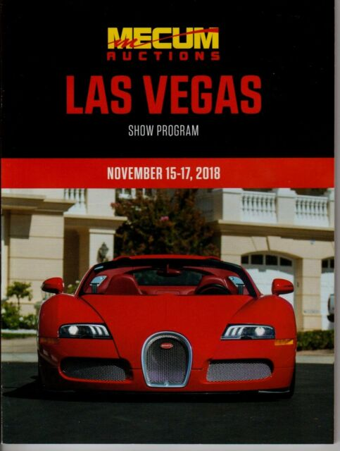 Mecum Nov 15 17 2018 Las Vegas Collector Car Auction Catalog New
