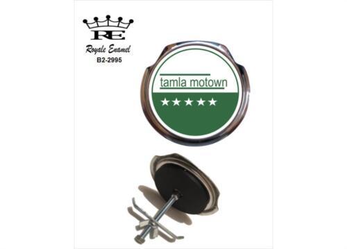 TAMLA MOTOWN RECORDS GREEN Royale Classic Car Grill Badge B2.2995