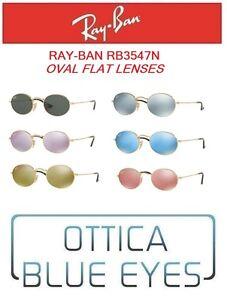 Occhiali-da-sole-RAYBAN-RB3547N-OVAL-FLAT-LENSES-Sunglasses-Ray-Ban-LENTI-PIATTE
