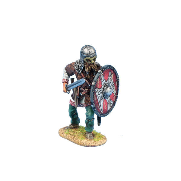 VIK017 Viking Warrior Shieldwall with Sword by First Legion