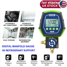 Refrigeration Hvac Digital Manifold Gauge Vacuum Pressure Temp Tester Tool R410a