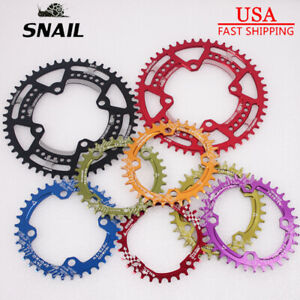 SNAIL-30-52T-104BCD-Round-Oval-MTB-Bike-Crankset-Chainring-Bolts-Crank-Cover