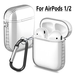 For Apple Airpods 1 2 Wireless Charging Case Clear Silicone Protective Cover Bag Ebay