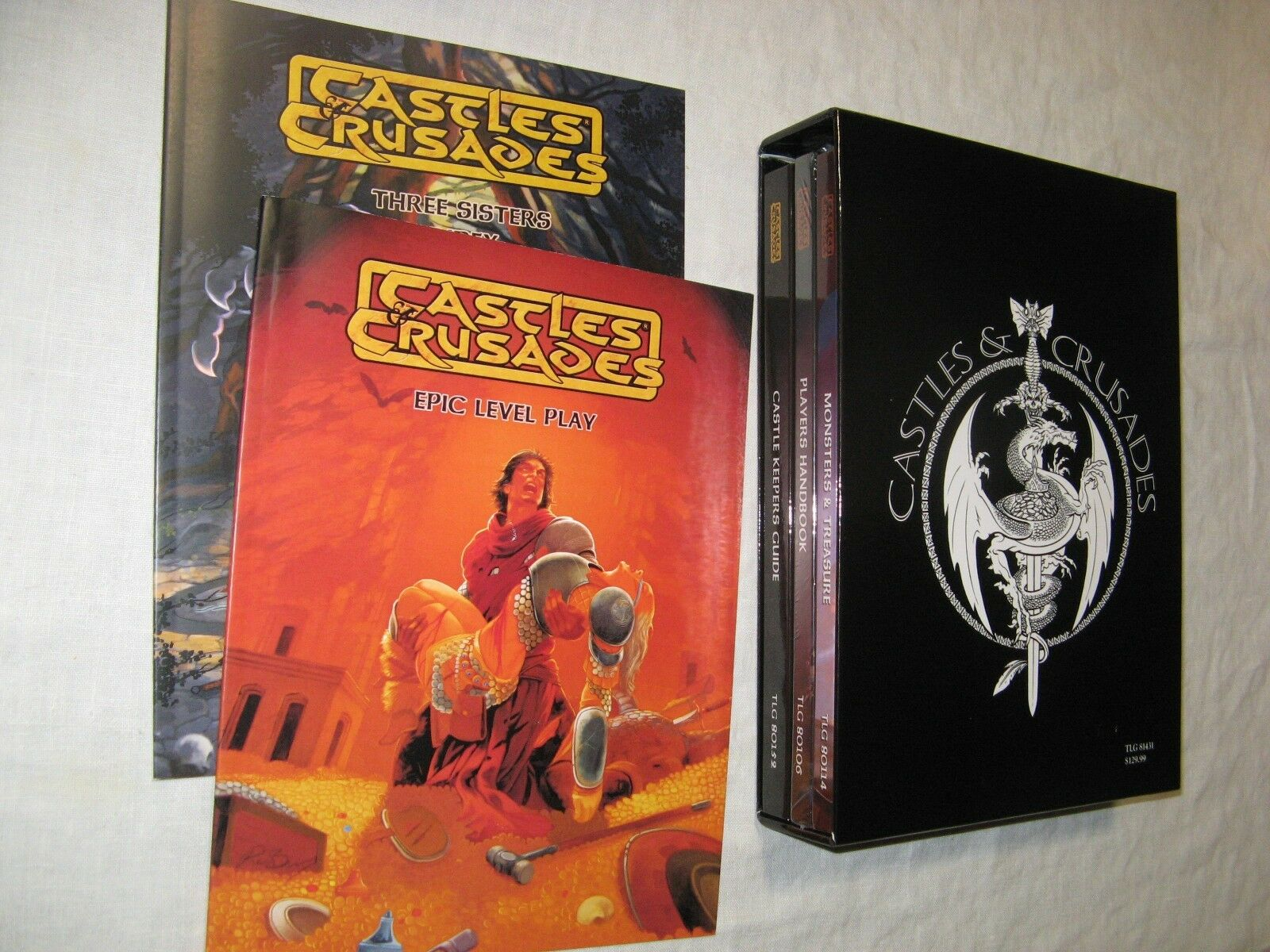 Castles & Crusades core set+slipcase+Epic Level Play+Index NEW AD&D rpg D&D