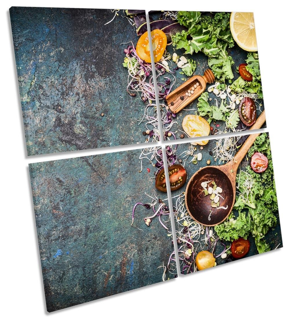 Vegetables Spices Herbs Bild MULTI CANVAS Wand Kunst Square