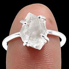 Herkimer Diamond 925 Sterling Silver Ring Jewellery Size Uk O Us 7