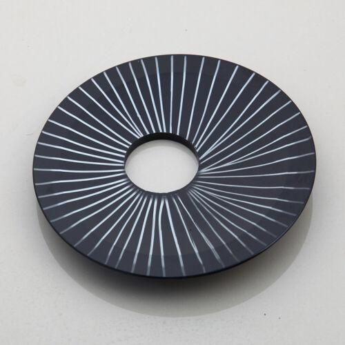 Bathroom 4 Types Black Stripe Glass Basin Bowl Vessel Sink Mixer Faucet Tap Set