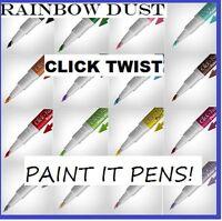 Rainbow Dust Click-Twist Brush Paint It Edible Cake Icing Food Colour Pen