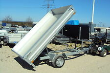 Humbaur HUK 152715, Rückwärts- Kipper 1500 kg 268 x 150 x 30, verz. Stahlboden