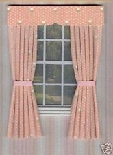 DOLLS HOUSE CURTAINS SALMON PINK