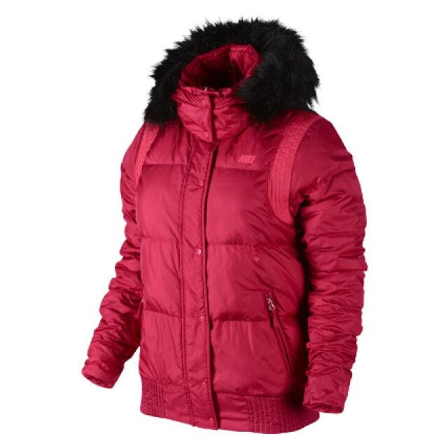 tetraedro Profesor de escuela Huelga  Nike Alliance Hooded Bomber 550 Jacket women winter red 541416-604 | eBay
