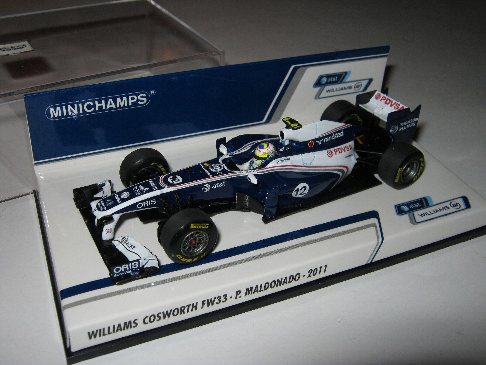 1 43 Williams Cosworth fw33 P. MALDONADO Minichamps 410110012 OVP NUOVO