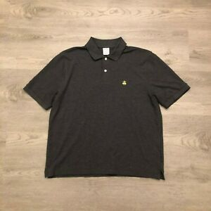Brooks-Brothers-1818-Mens-Gray-Performance-Polo-Shirt-Original-Fit-Cotton-Size-L