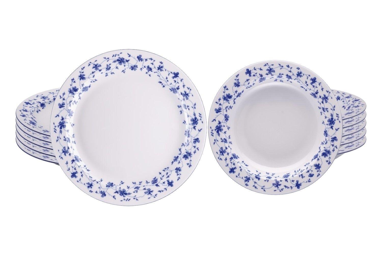 6 x servizio da tavola 26 & 23 cm (12tlg). - ARZBERG Form 1382   Blu Fiori