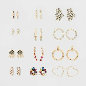 Details about Sugarfix by Baublebar 12 piece Earring The Sparkle Suite Gift  Set New Boxed NIB