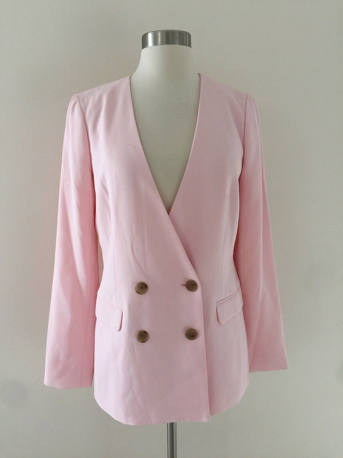 New JCREW French girl blazer in 365 crepe Pink Size 2 H6285