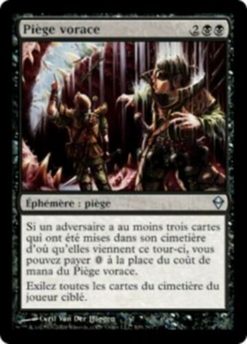 X 1 Piège Vorace FR  NM  Zendikar magic mtg Ravenous Trap