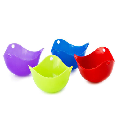 Silicone Egg Poacher Cook Poach Pods Kitchen Cookware Poached Baking Cup b $T