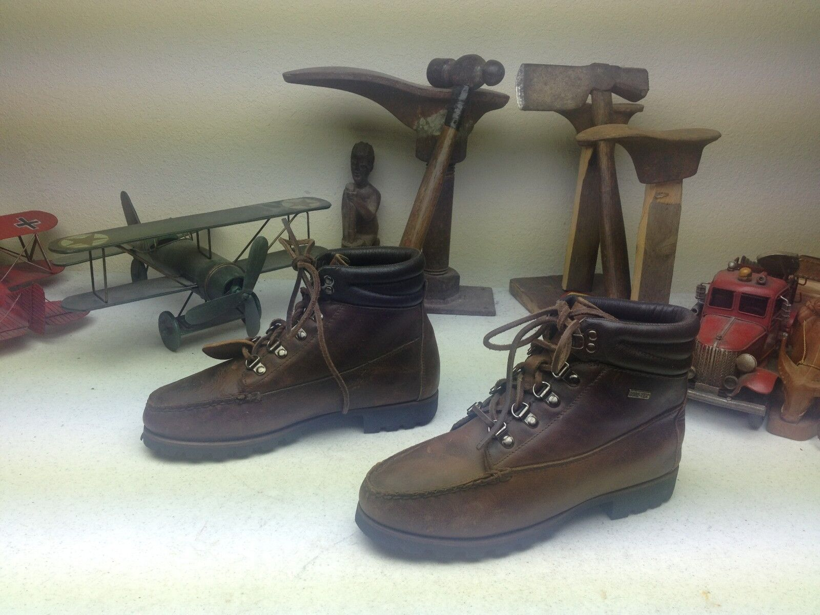 HANDCRAFTED H..H. BROWN DISTRESSED ANKLE CHUKKA ENGINEER PACKER CHORE BOOTS 7.5