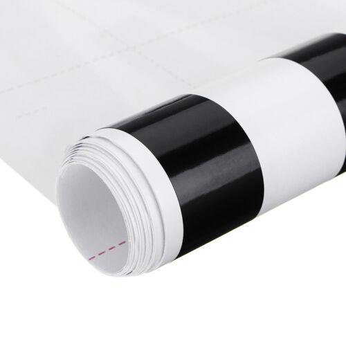 2× Glossy Black For Honda Accord Coupe Window Sticker Decal Chrome Trim Exterior