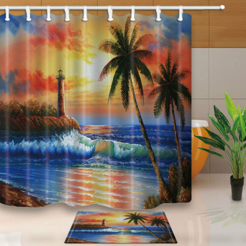 Natural Scenery Shower Curtains for Bathroom Waterproof Mildew Resistance Decor