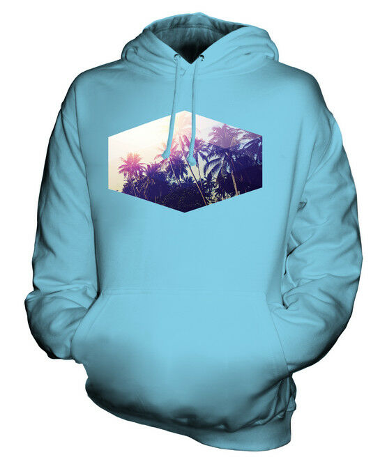 SUMMER PALM TREES PRINT UNISEX HOODIE  Herren Damenschuhe LADIES TOP GIFT PRINTED SURFER