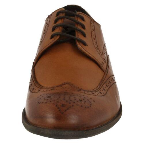Mens Clarks Chart Limit Leather Smart Lace Up Brogue Shoes
