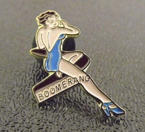 Collectible Enamel Pin Up Girl Lapel Pin Hat Pin Shirt Pin Boomerang
