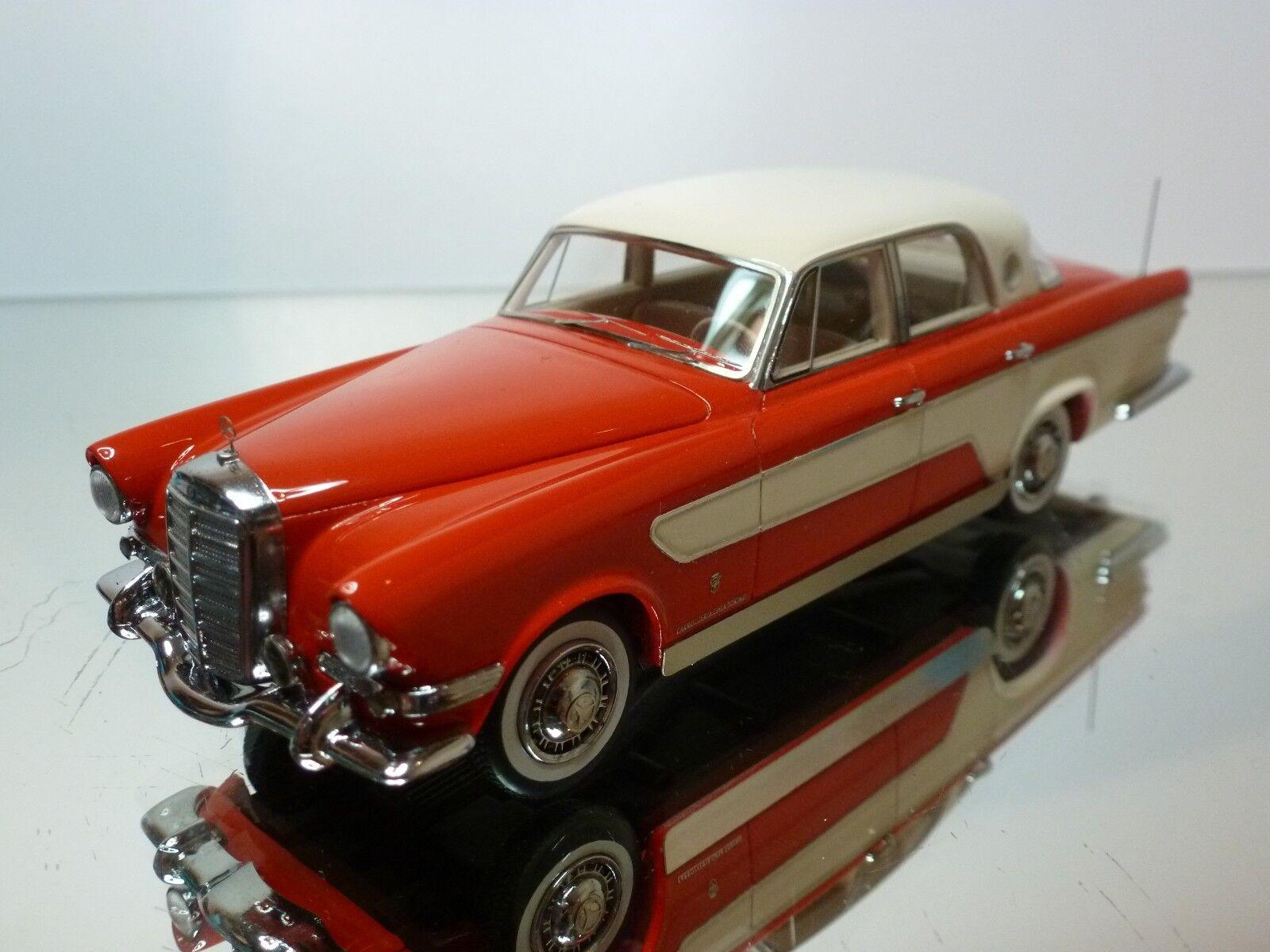MATRIX MERCEDES-BENZ GHIA 300L BERLINA 1956 - rouge+blanc 1 43 - EXCELLENT - 38 37