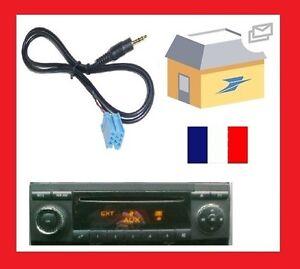 Cable-aux-mp3-mini-iso-autoradio-audio-5-jack-mercedes-classe-A-de-2005