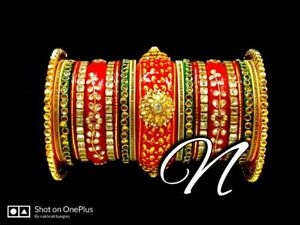 Designer Bridal Bangle Set Indian Jewelry Rajasthani Punjabi