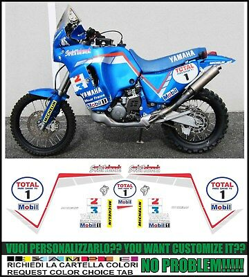 Kit adesivi decal stickers yamaha XT 750 Z SUPER TENERE REPLICA SONAUTO PARIS DAKAR
