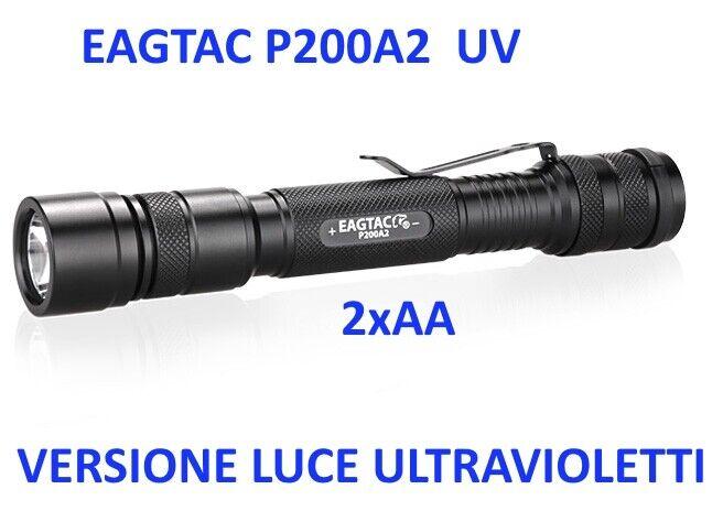 Torcia EagleTac P200A2 UV Ultrapurpleti 365 nm Torcia professionale AA