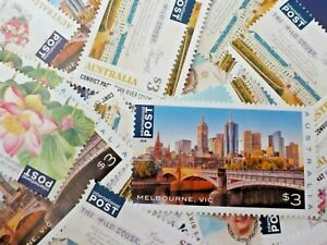 Australia-Mint-Full-Gum-INTERNATIONAL-Post-Stamps-POSTAGE-100-x-3-300